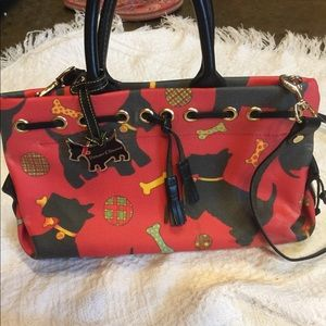 Rooney and Bourke Scottie dog tassel purse